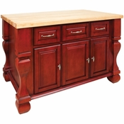 Jeffrey Alexander - Kitchen Island - Brilliant Red - ISL01-RED