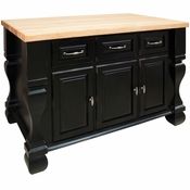 Jeffrey Alexander - Kitchen Island - Distressed Black - ISL01-DBK