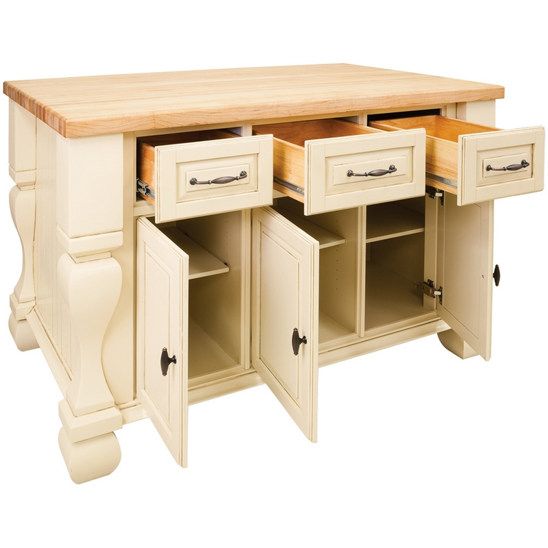 Jeffrey Alexander Kitchen Island Antique White Isl01 Awh