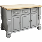 Jeffrey Alexander - Kitchen Island - Grey - ISL01-GRY