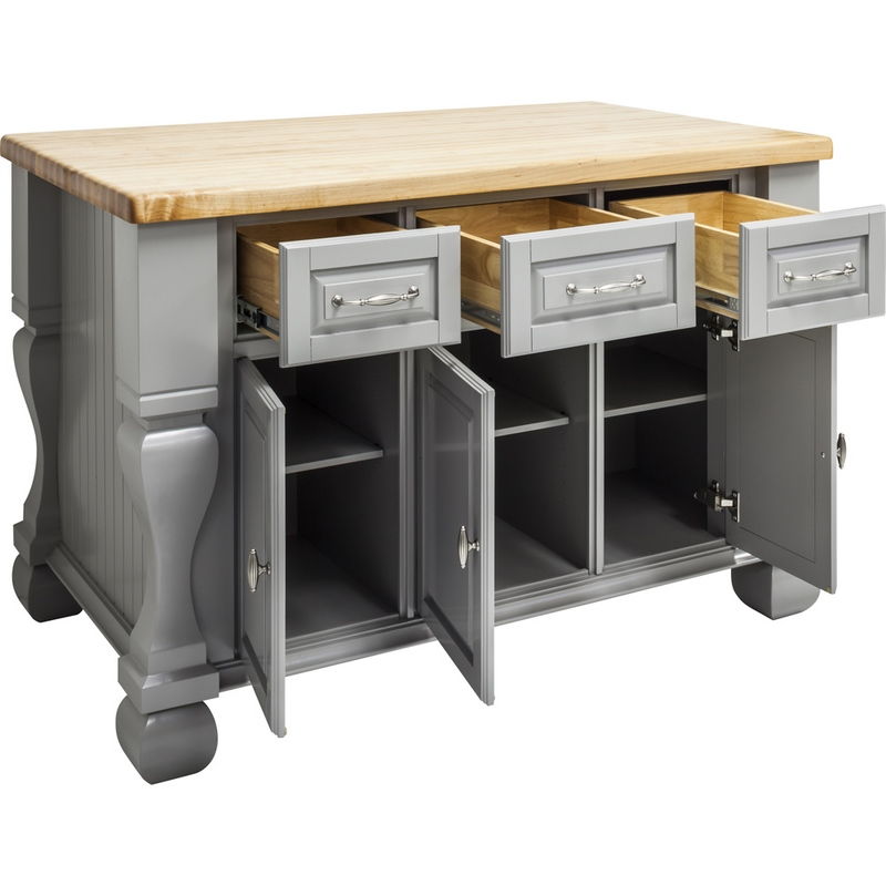 Jeffrey Alexander Kitchen Island Grey Isl01 Gry Kitchen Islands