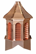 Kingston Style - Louvered Cupola - Estate Copper Series