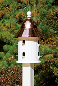 Lazy Hill Farm Bell Bird House with Polished Copper Roof - 42413