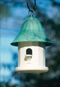 Lazy Hill Farm Copper Top Bird House with Blue Verde Copper Roof - 43430