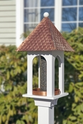 Lazy Hill Farm Extra-Large Seed Capacity Bird Feeder Copper Roof - Composite PVC Base - 42305
