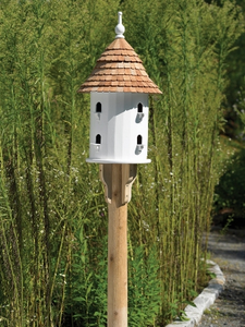 Lazy Hill Farm Bird House With Shingled Roof 41401
