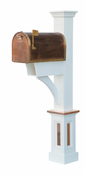 Capital Outdoor Accents - Mailbox Post - Madison Copper Accents