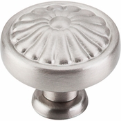 "Top Knobs - Normandy Collection - Flower Knob 1 1/4"" - Brushed Satin Nickel - M1599"