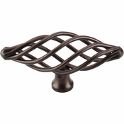 "Top Knobs - Normandy Collection - Oval Twist Knob Medium 3"" - Oil Rubbed Bronze - M779"