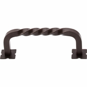 "Top Knobs - Normandy Collection - Square Twist D-Pull w/Backplates 3 3/4"" (c-c) - Oil Rubbed Bronze - M784"