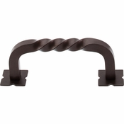 "Top Knobs - Normandy Collection - Square Twist D-Pull w/Backplates 3"" (c-c) - Oil Rubbed Bronze - M783"