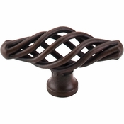 "Top Knobs - Normandy Collection - Oval Twist Knob Small 2 1/8"" - Patina Rouge - M618"