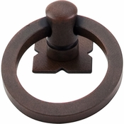 "Top Knobs - Normandy Collection - Smooth Ring Pull 1 9/16"" w/Backplate - Patina Rouge - M636"