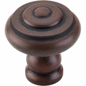 "Top Knobs - Normandy Collection - Step Knob 1 1/8"" - Patina Rouge - M603"
