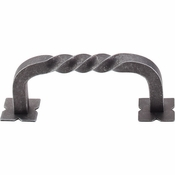 "Top Knobs - Normandy Collection - Twist D-Pull w/Backplates 3"" (c-c) - Pewter - M709"
