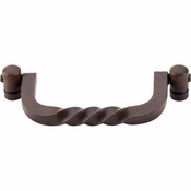 "Top Knobs - Normandy Collection - Twist Drop Pull 3 3/4"" (c-c) - Patina Rouge - M642"