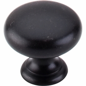 "Top Knobs - Normandy Collection - Mushroom Knob 1 1/4"" - Patina Black - M596"