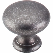 "Top Knobs - Normandy Collection - Mushroom Knob 1 1/4"" - Pewter - M595"