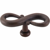 "Top Knobs - Normandy Collection - S-Shaped Knob 3 1/4"" - Patina Rouge - M630"