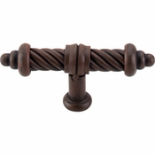 "Top Knobs - Normandy Collection - T-Shaped Twist Knob 3 5/8"" - Patina Rouge - M627"