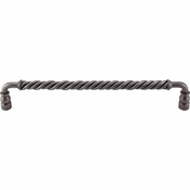 "Top Knobs - Normandy Collection - Twisted Bar Pull 12"" (c-c) - Pewter - M676"