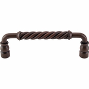 "Top Knobs - Normandy Collection - Twisted Bar Pull 6"" (c-c) - Patina Rouge - M669"