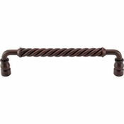 "Top Knobs - Normandy Collection - Twisted Bar Pull 8"" (c-c) - Patina Rouge - M672"