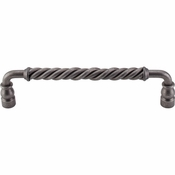 "Top Knobs - Normandy Collection - Twisted Bar Pull 8"" (c-c) - Pewter - M673"