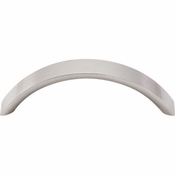 "Top Knobs - Nouveau Collection - Crescent Pull 3 3/4"" (c-c) - Brushed Satin Nickel - M394"