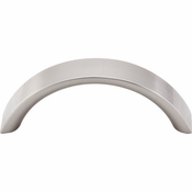 "Top Knobs - Nouveau Collection - Crescent Pull 3"" (c-c) - Brushed Satin Nickel - M1736"