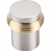 "Top Knobs - Nouveau Collection - Split Finish Knob 1"" - Brushed Satin Nickel & Polished Brass - M341"