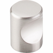 "Top Knobs - Nouveau II Collection - Indent Knob 3/4"" - Brushed Satin Nickel - M579"