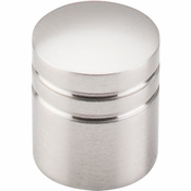 "Top Knobs - Nouveau II Collection - Stacked Knob 1"" - Brushed Satin Nickel - M582"