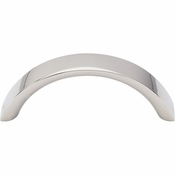 "Top Knobs - Nouveau Collection - Crescent Pull 3"" (c-c) - Polished Nickel - M1737"