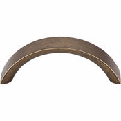 "Top Knobs - Nouveau Collection - Crescent Pull 3"" (c-c) - German Bronze - M1742"