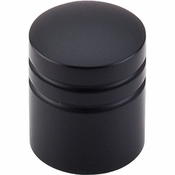 "Top Knobs - Nouveau II Collection - Stacked Knob 1"" - Flat Black - M584"