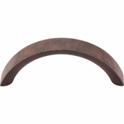 "Top Knobs - Nouveau Collection - Crescent Pull 3"" (c-c) - Patina Rouge - M1740"