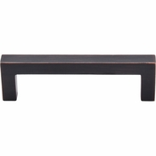 """Top Knobs - Nouveau III Collection - Square Bar Pull 3 3/4"""" (c-c) - Tuscan Bronze - M1834"""
