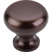 "Top Knobs - Oil Rubbed Collection - Flat Faced Knob 1 1/4"" - Oil Rubbed Bronze - M754"