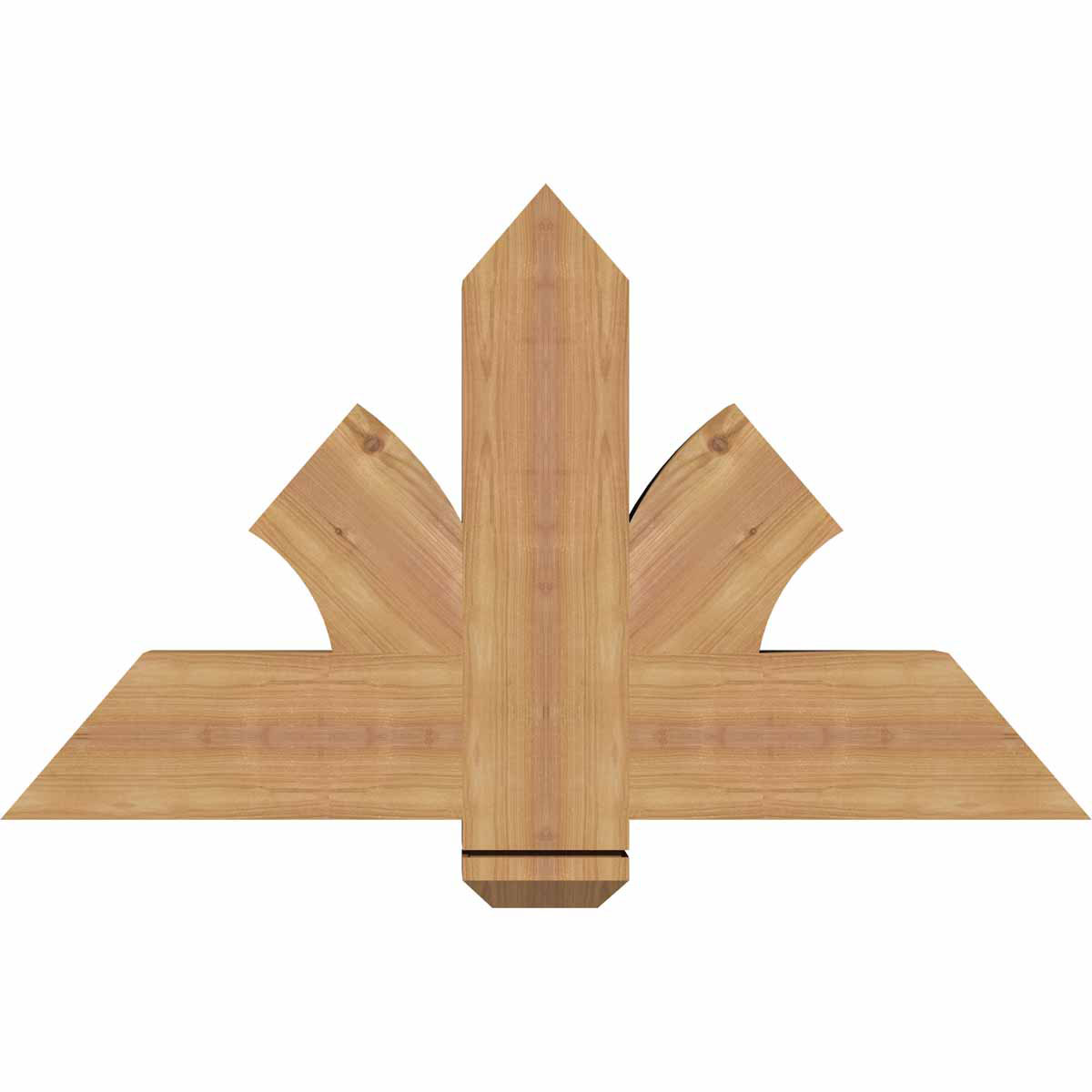 Redmond smooth timber gable bracketwestern red cedar for Cedar gable brackets