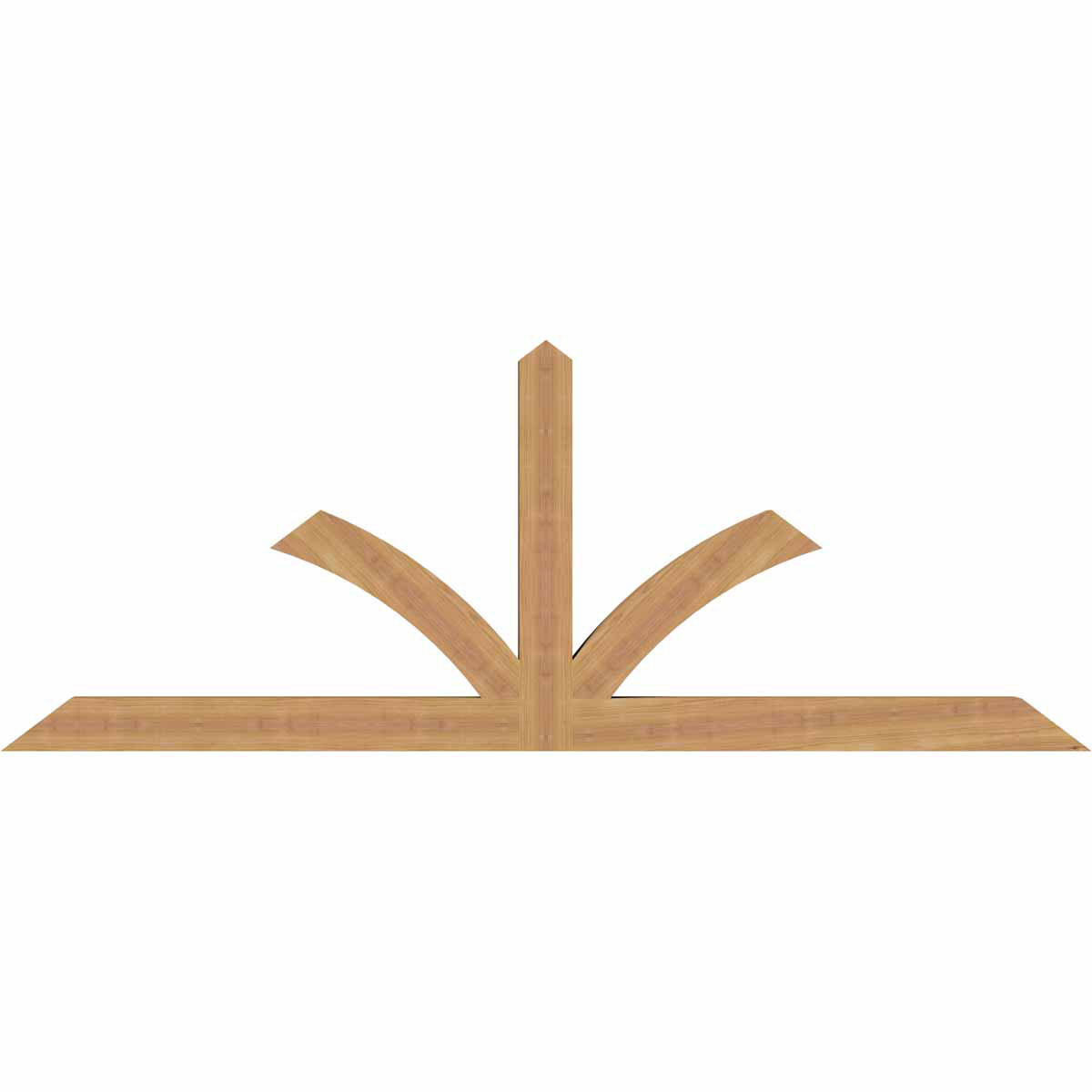 Richland smooth timber gable bracketwestern red cedar for Cedar gable brackets