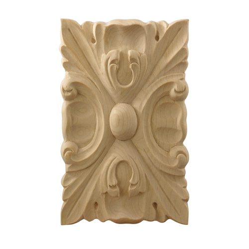Hm full small acanthus carved tile hard maple