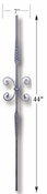 Carolina Stair Supply - Round Stamped Butterfly Baluster - CS16.1.19-B