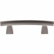 "Top Knobs - Sanctuary Collection - Arched Pull 3"" (c-c) - Brushed Satin Nickel - TK3BSN"