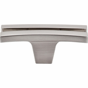 "Top Knobs - Sanctuary Collection - Flared Knob 2 5/8"" - Brushed Satin Nickel - TK87BSN"