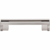 "Top Knobs - Sanctuary Collection - Flat Rail Pull 3 1/2"" (c-c) - Brushed Satin Nickel - TK55BSN"