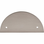 "Top Knobs - Sanctuary Collection - Half Circle Backplate 3 1/2"" (c-c) - Brushed Satin Nickel - TK54BSN"