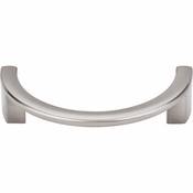 "Top Knobs - Sanctuary Collection - Half Circle Open Pull 3 1/2"" (c-c) - Brushed Satin Nickel - TK53BSN"