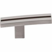 "Top Knobs - Sanctuary Collection - Inset Rail Knob 2 5/8"" - Brushed Satin Nickel - TK82BSN"