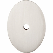 "Top Knobs - Sanctuary Collection - Oval Backplate Large 1 3/4"" - Brushed Satin Nickel - TK62BSN"